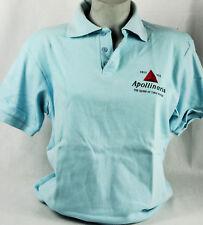 Apollinaris Wasser, Polo Shirt, hellblau, bedruckt Gr. XL