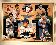 Signed JOHNNY PESKY Upper Deck Heroes of Baseball 8x11 Red Sox Print PSA/DNA