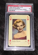 1959 MAPLE LEAF GUM MARILYN MONROE MOVIE STAR PLAYING CARD PSA 5 EX CONDITION