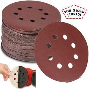Schleifscheiben Set 125mm Ø 8 Loch Klett Schleifpapier Schleifblätter Exzenter