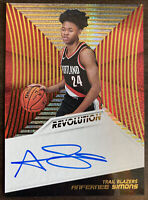 2018-19 Panini Revolution Anfernee Simons Rookie On Card Auto RC Trail Blazers!
