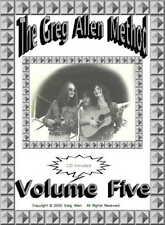 Learning To Play Banjo - The Greg Allen Method volume 5