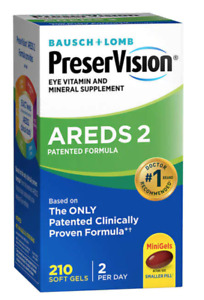 Bausch Lomb PreserVision AREDS 2 Formula 210 Soft Gels NEW-SEALED BOX Exp. 5/22+