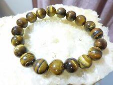 BRACELET PROTECTION OEIL DE TIGRE perles 10 mm LITHO-REIKI