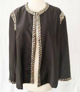 Grace Chuang New York Black Silver Lined Jacket Size XXXL