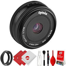 Opteka 28mm f/2.8 Lens + Kit for Panasonic GH5 GH4 GX85 GF8 GF7 GX850 GX8 G85 G9