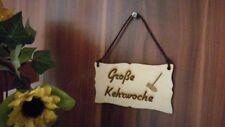 Große Kehrwoche Kleine Wendeschild Schild Holz Holzschild mit Lederband