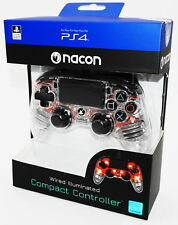 Nacon PS4 Controller / Gamepad Compact Color Edition Transparent Rot - Neu & OVP