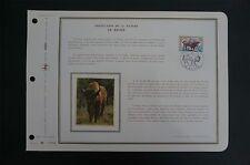FRANCE CEF 1974 BISON WISENT ETB ERSTTAGSBLATT SAMMELBLATT DOCUMENT z1402