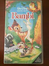 BAMBI LOS CLASICOS DISNEY - VHS TAPE CINTA COLECCIONISTA 64 MIN - EN BUEN ESTADO