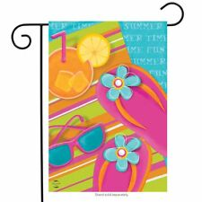 "Pool Party Summer Garden Flag Float Sunglasses Flip Flops 12.5"" x 18"""