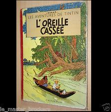 Tintin L'Oreille Cassée Album BD Hergé B5 Edition Casterman feuillage bleu