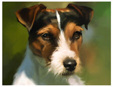 artav Jack Russell Terrier Art Print Watercolor Paper