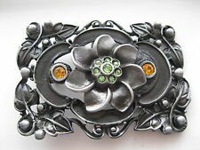 Metal with Crystals Belt Buckle #365 -