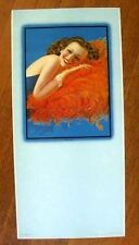 Authentic 1940s Pin Up Girl Calendar by Billy DeVorss Coquette Brunette