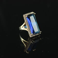 Turkish Handmade Sterling Silver Sapphire 925 Ring Ladies 6 7 8 9