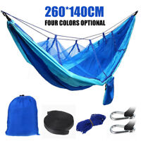 Camping Hängematte Ultraleichte mit Moskito Netz und 260*140cm Zeltplane Ne M9F1