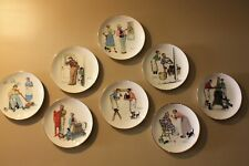 Norman Rockwell Gorham Commemorative Plates, 1970's, set of 8 with plate hangers