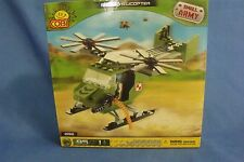 Toys Cogi NIB Small Army Small Helicopter 95 piece Building Set