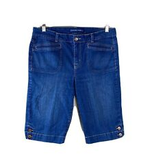 Bandolinoblu Womans Denim Shorts Sizs 12 Bermuda Walking Blue