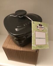 Le Creuset Heart shaped Ramekin With Lid 0.3L - Grey (BNWT)