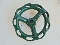 Altes Eisenrad Stellrad Griff Ventil Heizung Stahlguß Rad  Ø. 14 cm