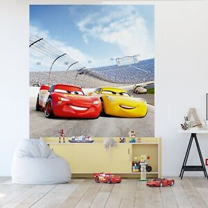 Cars 3 wall mural wallpaper children's bedroom PREMIUM Disney wall decor Yellow