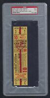 VINTAGE 1954 TIGERS @ NEW YORK YANKEES FULL TICKET - MICKEY MANTLE PSA 5 - 5/2