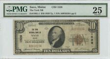 1929 $10 TY1 Saco Maine The York NB FR#1801-1 PMG 25 National CH#1528