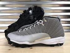Nike Air Jordan 12 XII Retro MCS Baseball Cleats Black White SZ ( 854566-100 )