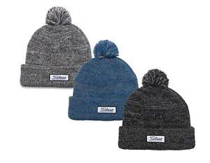 Titleist Pom Pom Winter Beanie Golf Hat Heathered Cap New - Choose Color