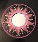 """BALI GOLDEN FLAMES MIRROR 8"""" Hand Carved & Painted NEW! Purple Hues."""
