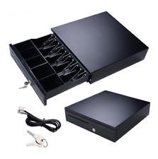 Cash Drawer Box Connect Epson POS Receipt Printers 5 Bill 5 Coin Tray Key Lock