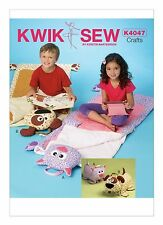 Kwik Sew SEWING PATTERN K4047 Childrens Novelty Cat & Dog Sleeping Bags
