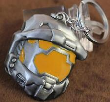 Halo Spartan Assault Helmet Mask alloy Metal refinement Keychain Keyring *