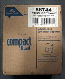 2X Compact Quad Coreless Dispenser (56744A) 4-Roll Vertical Tissue Dispenser