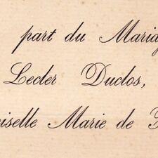 Georges Lecler Duclos 1880 Marie Morel De Fromental