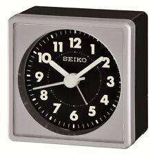 *BRAND NEW* Seiko Bedside Black Dial Alarm Clock Watch QHE083SLH