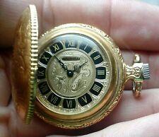 Rare near mint 14k gf 17 Jewels Waltham G615 Pocket Watch Very Ornate Running