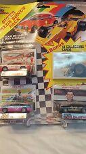 1990 RACING CHAMPIONS SUPER VALUE BONUS PACK W/ 10 BONUS CARDS  & 3 CARS