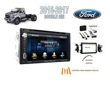 Fits FORD F650 F750 2016-2017 DDIN CAR STEREO KIT, BLUETOOTH TOUCHSCREEN DVD