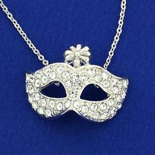 Mask W Swarovski Crystal The Phantom Of The Opera Masquerade Theater Necklace