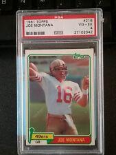 1981 Topps Joe Montana RC #216 Football Card