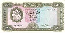 Lot of 8 LIBYA 5 DINARS 1972  P-36b UNC HIGH CV=$125.00