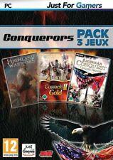 CONQUERORS PACK 3 JEUX POUR PC - NEUF