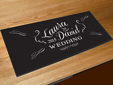 Personalised Wedding chalkboard style bar runner home bar counter mat