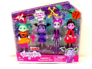 NEW SEALED 2018 Disney Vampirina & The Scream Girls 4 Figure Set w/ accessories