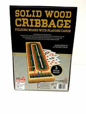 Cardinal Solid Wood Folding Cribbage Board With Playing Cards / READ DESCRIPTION