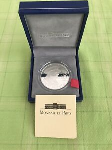 Winston Churchill 100 Francs Silver Medal with Case - Minted by Monnaie De Paris