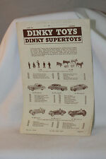 1955 DINKY TOYS CANADA LEAFLET, ORIGINAL